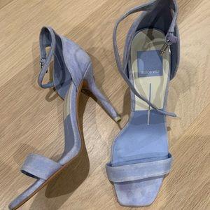 Dolce Vita Suede Blue Heels